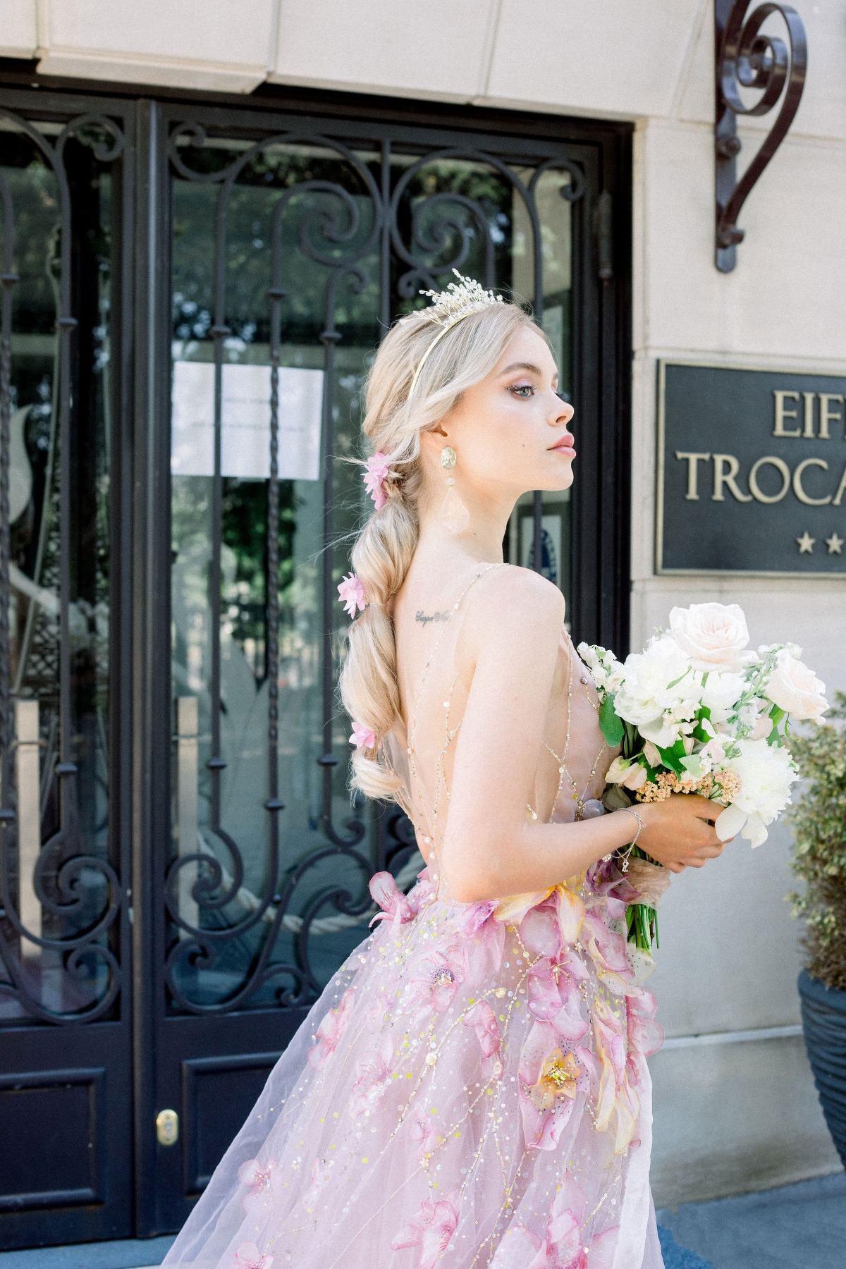 spring bridal look by Myoo Couture