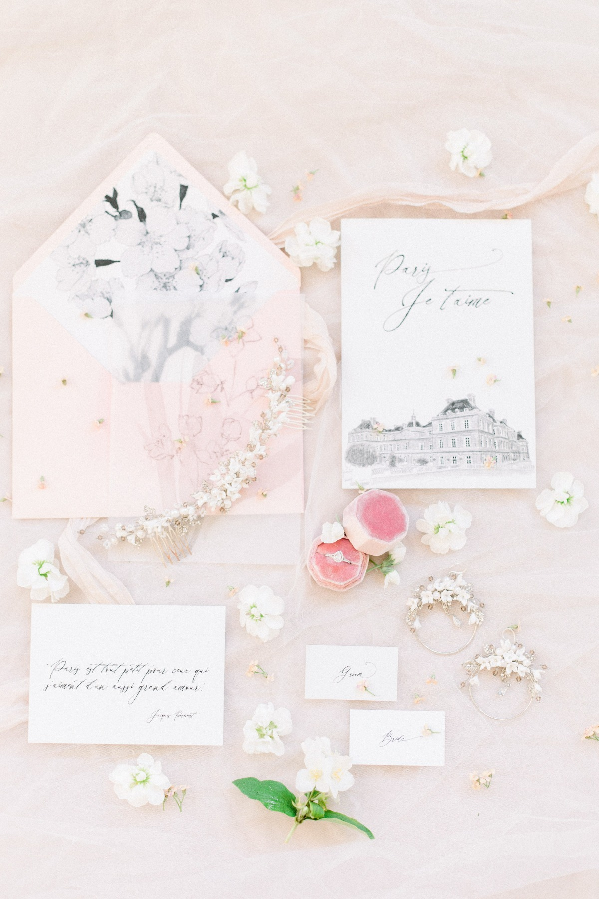 Floral Flat Lay Styling Ideas