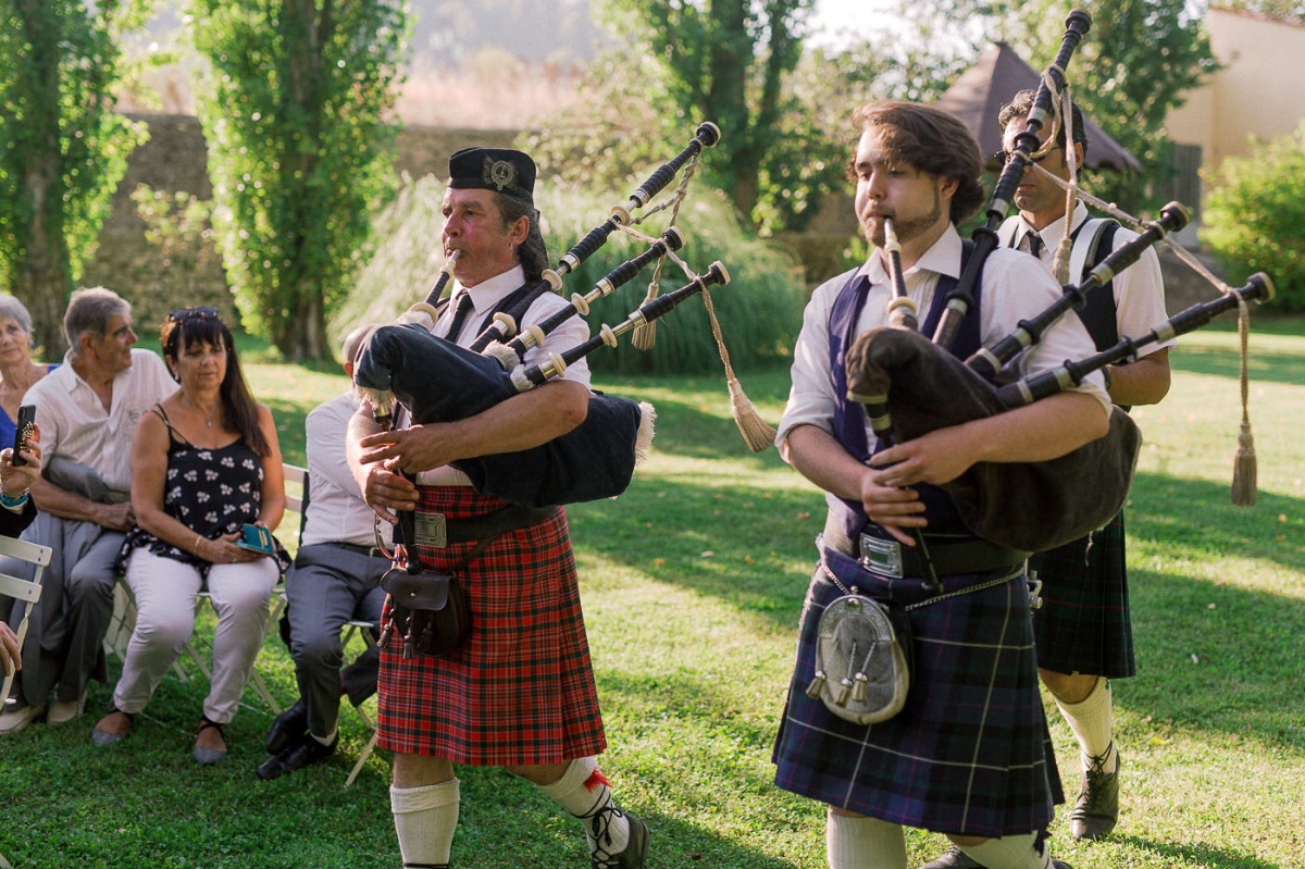 pipe band announced the Groom's entrance