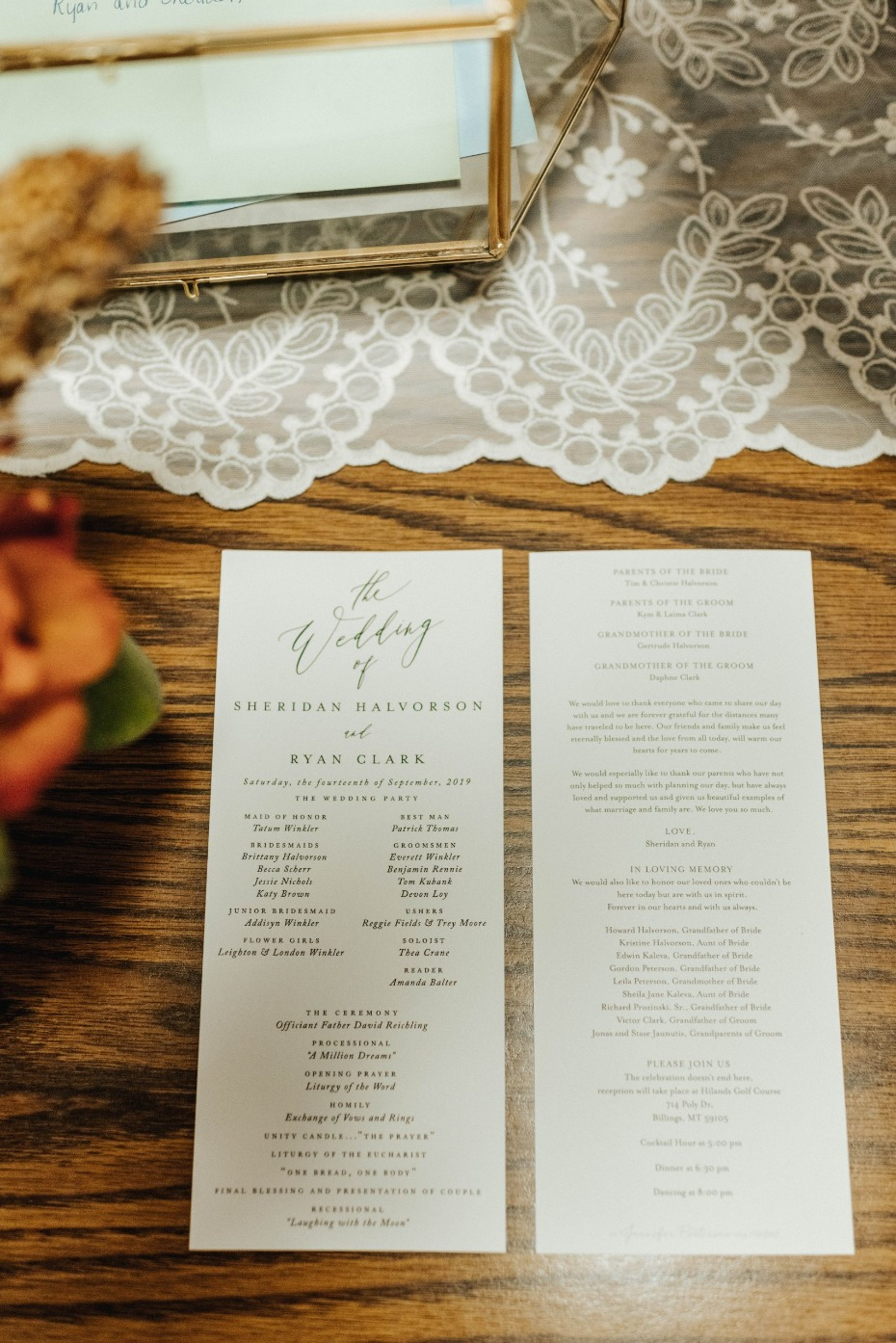 simple wedding program ideas