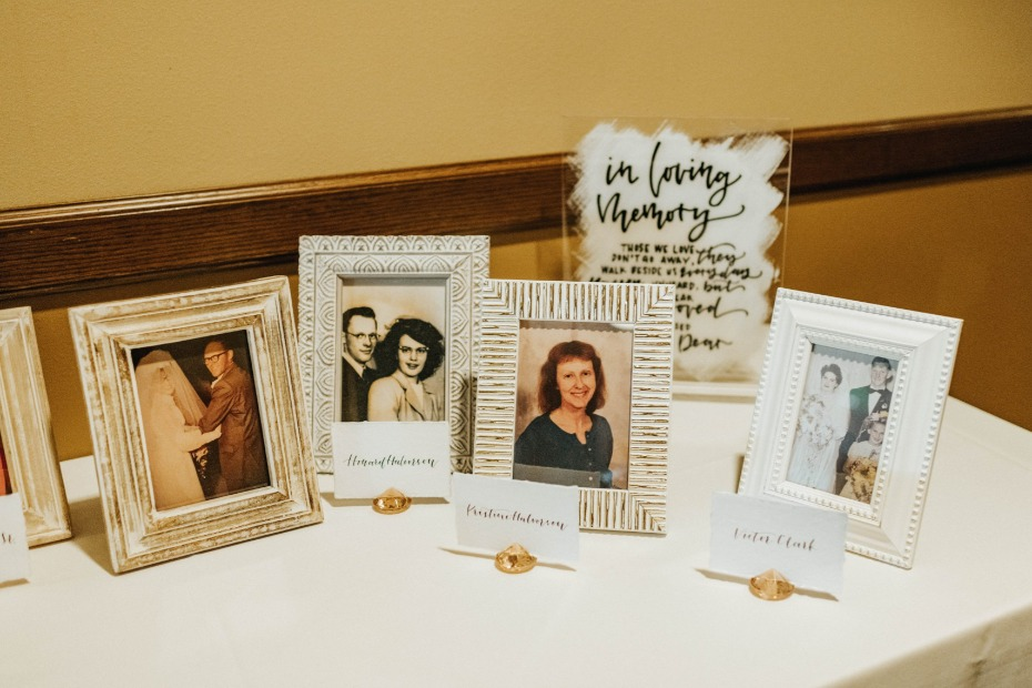 In loving memory table idea