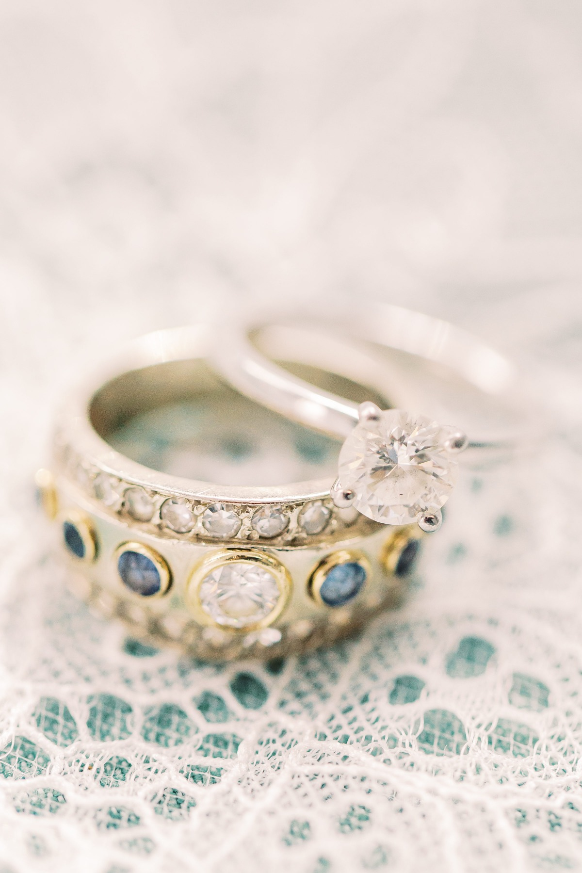 flat lay styling with wedding rings