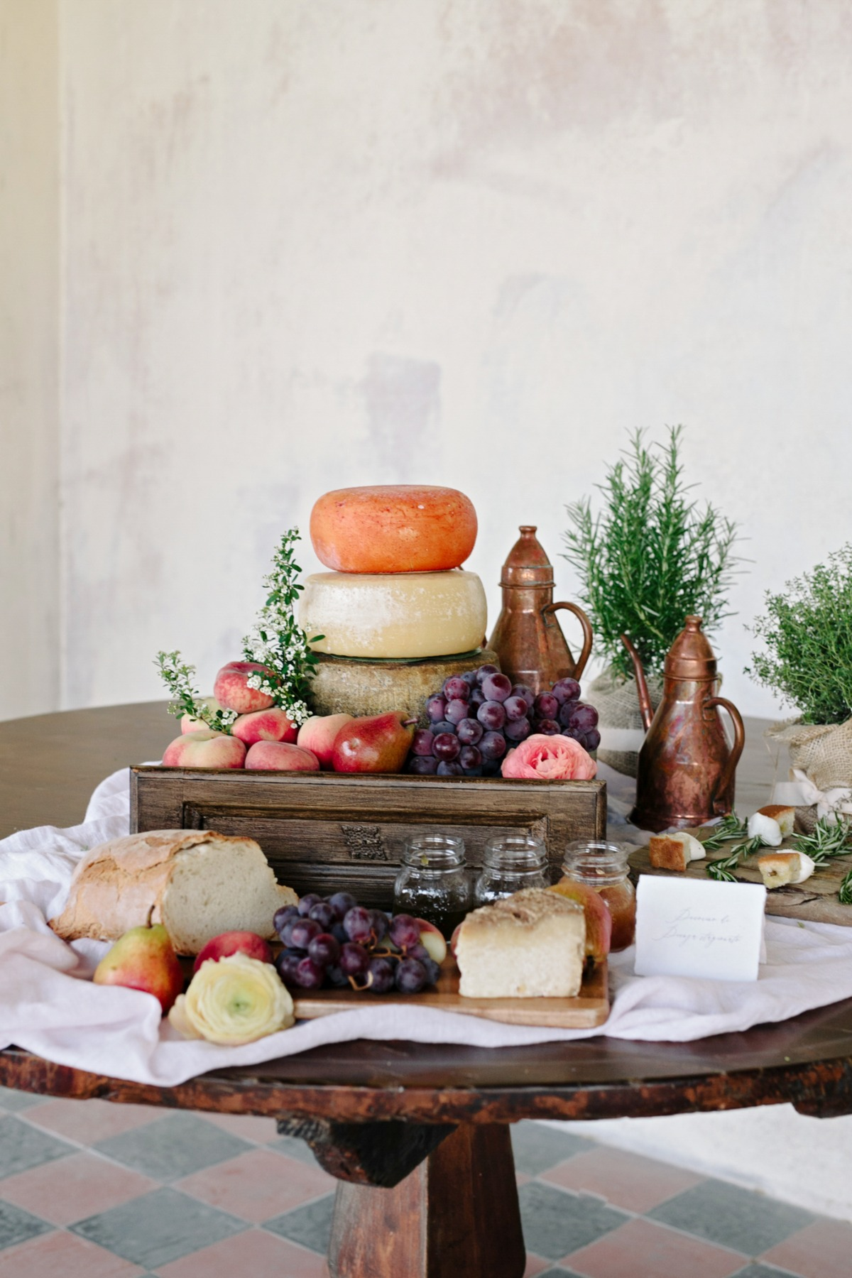 cheese table styling ideas