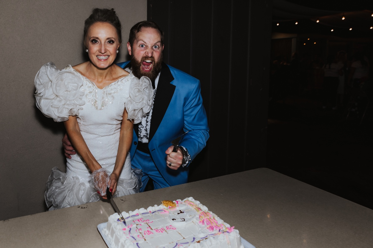 They had a sheet cake at their wedding