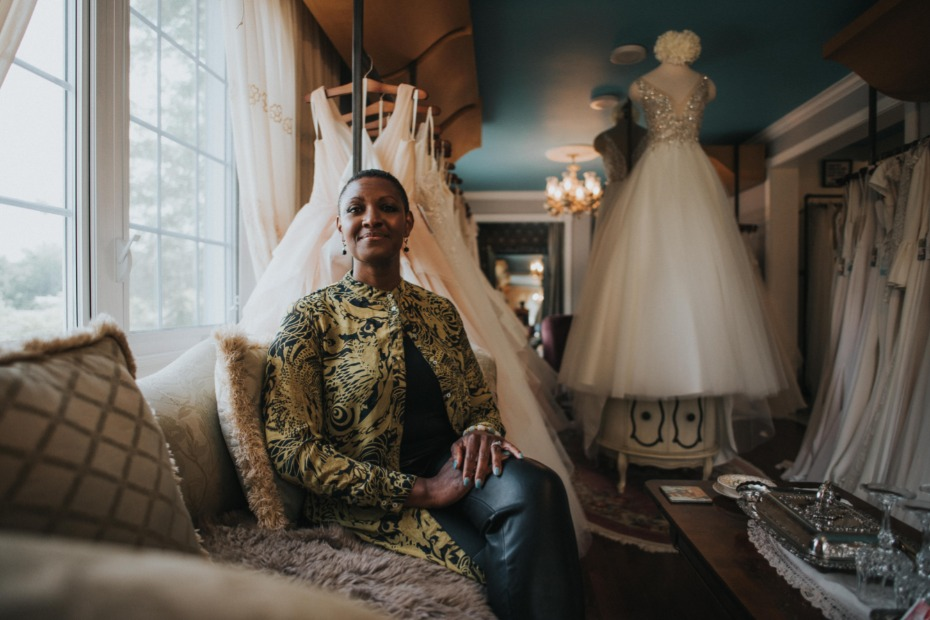 Nathale Phillips Founder & President of Ma Cherie Bleue Bridal Boutique De La Mariée