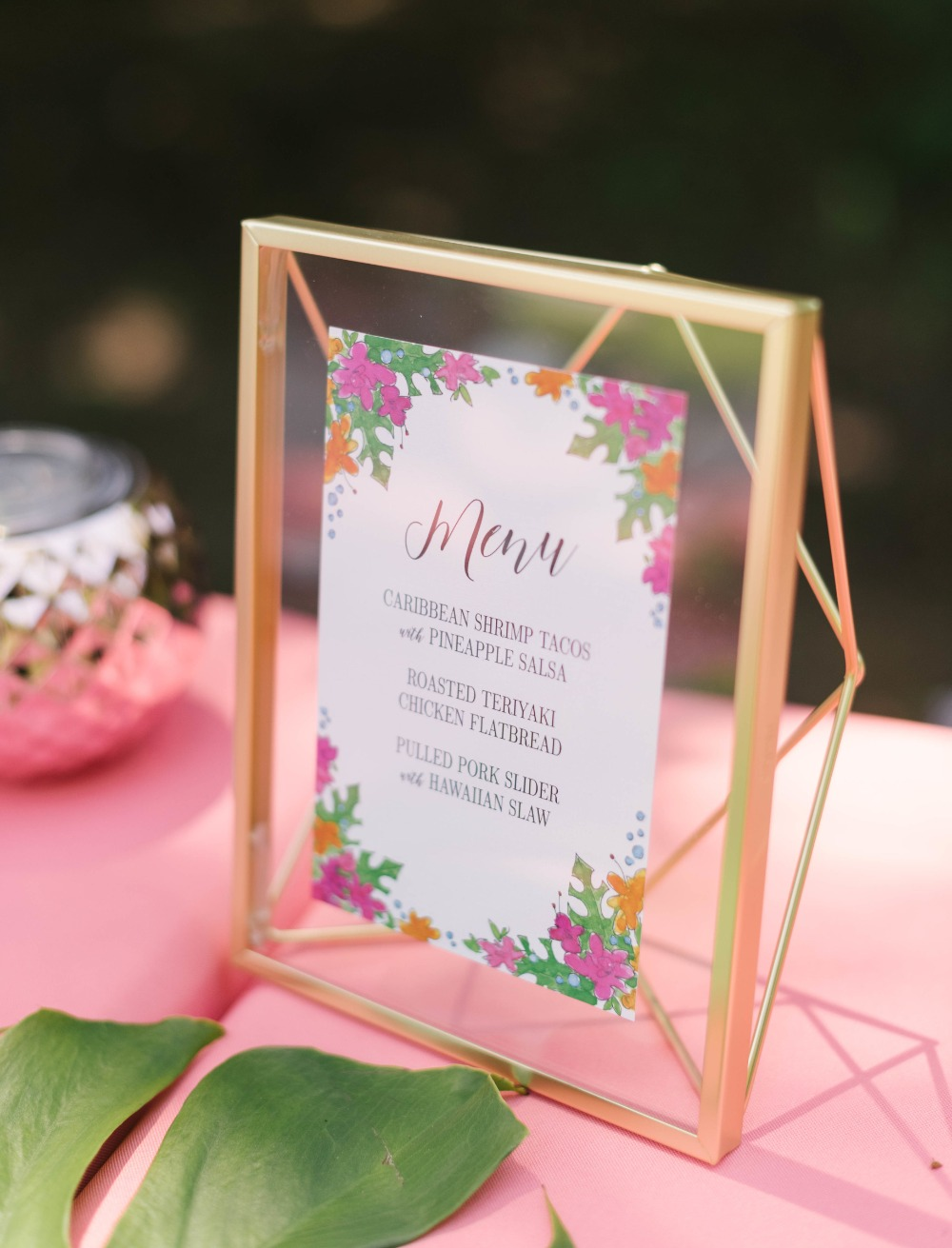 bridal shower menu ideas