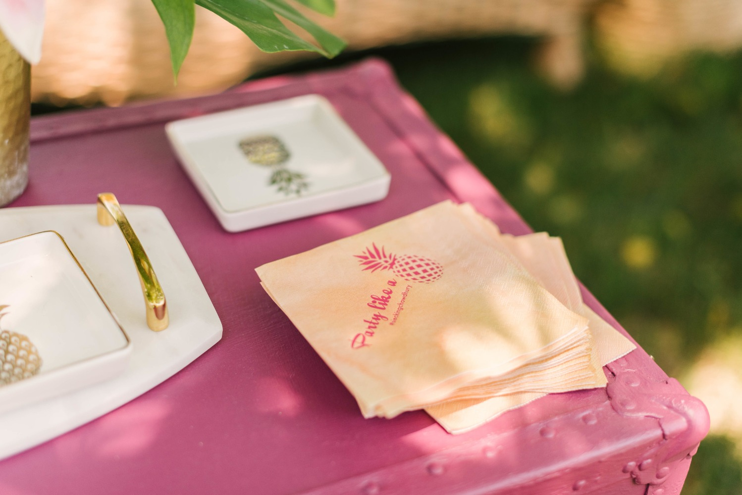 Party like a pineapple custom napkins