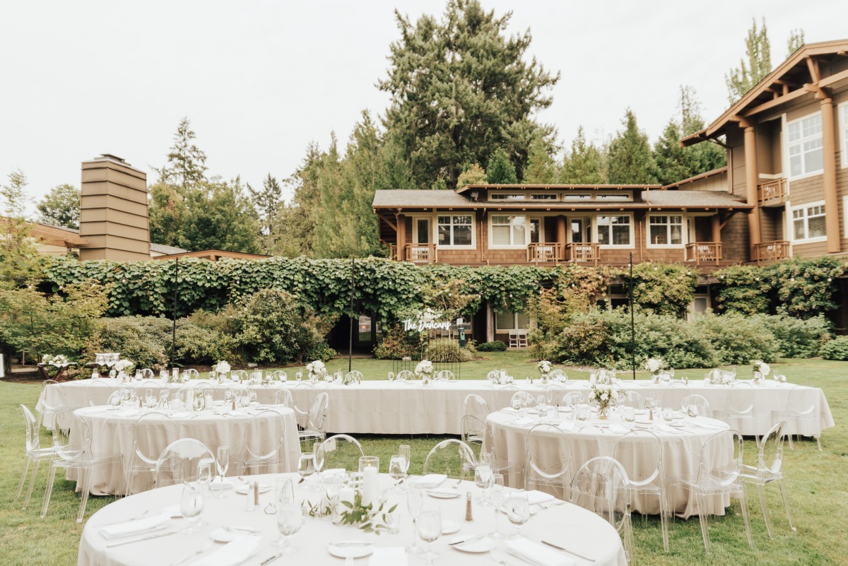 rustic yet modern wedding reception