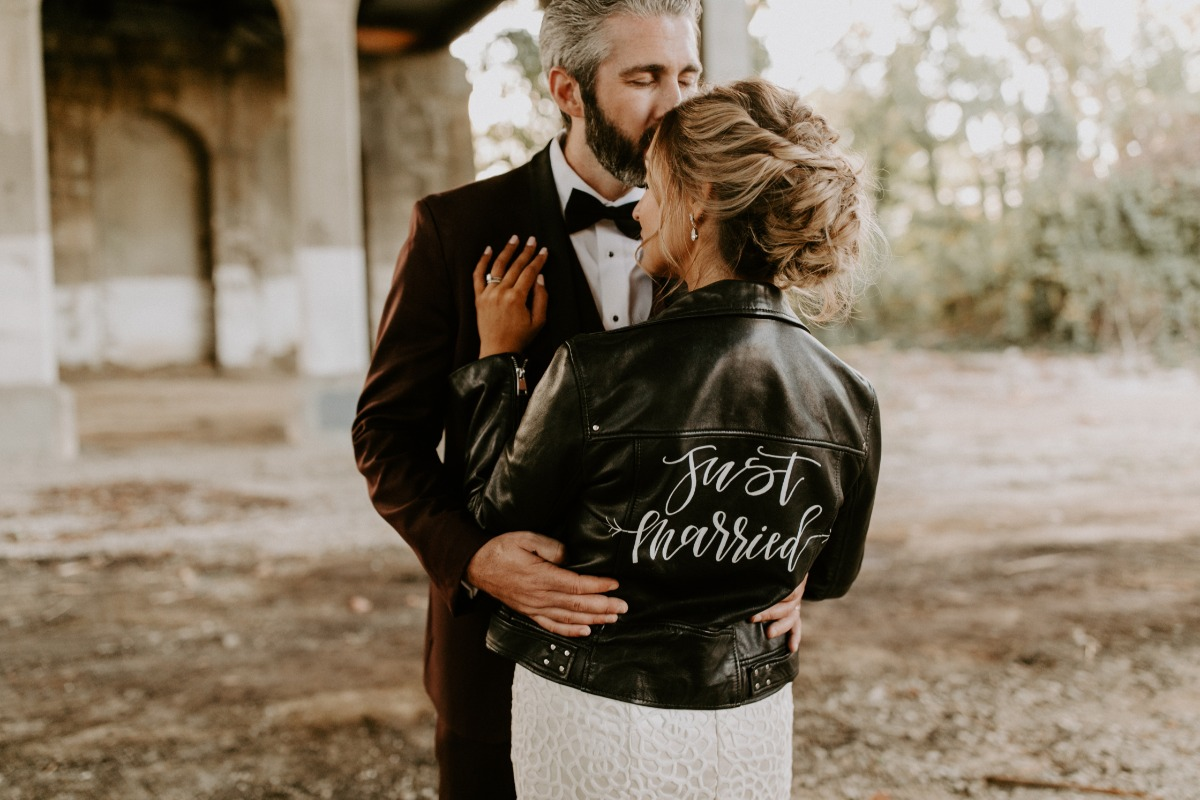 Just Married leather jacket