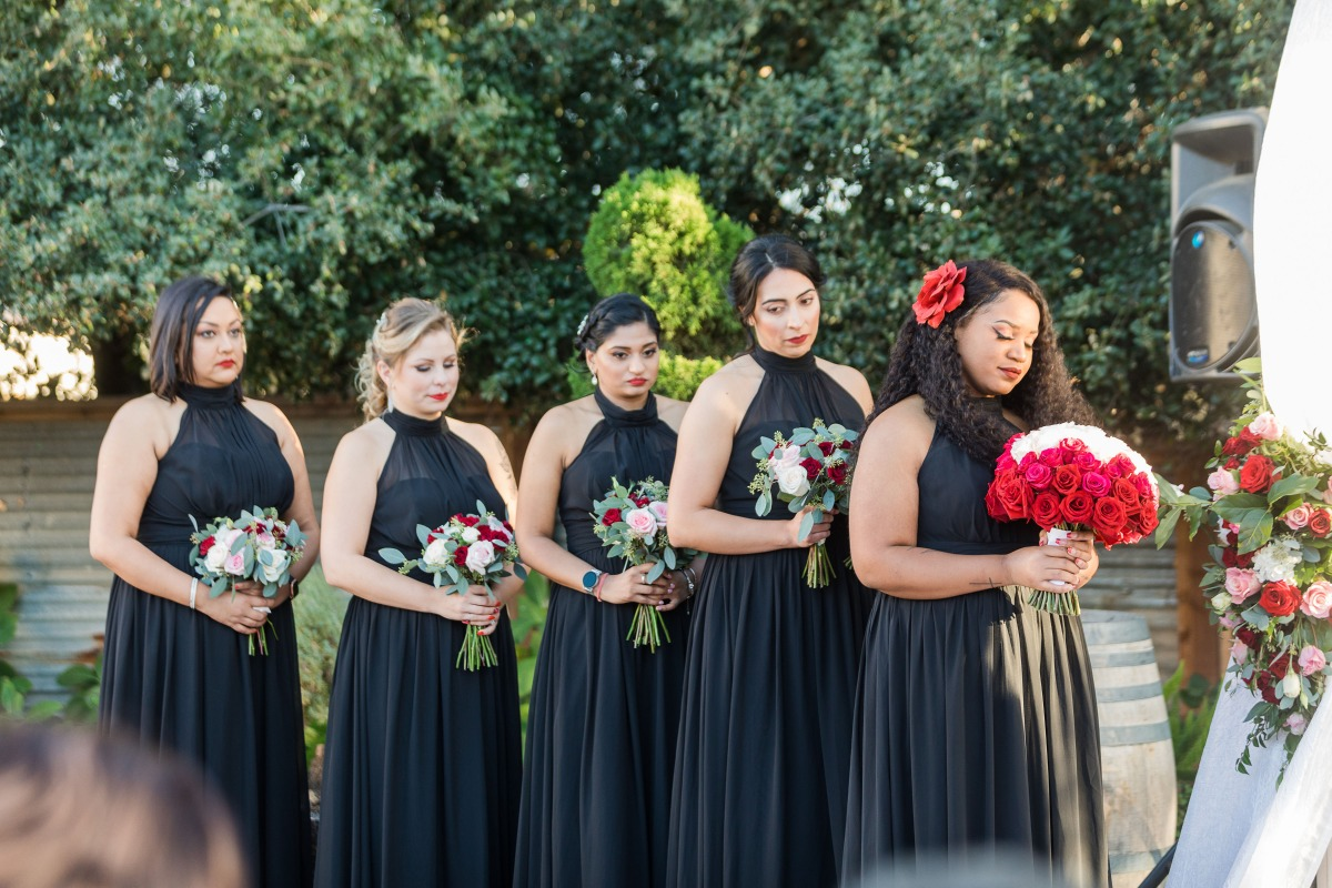 Hollywood Glam Wedding at Sunol's Casa Bella with Pops of Red and Black