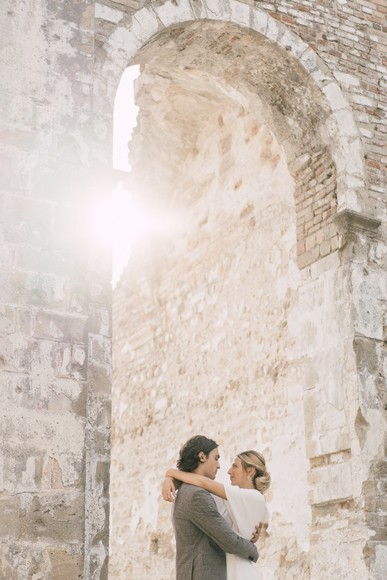 Minimal Elopement in a Historical Abbey in Northern Italy