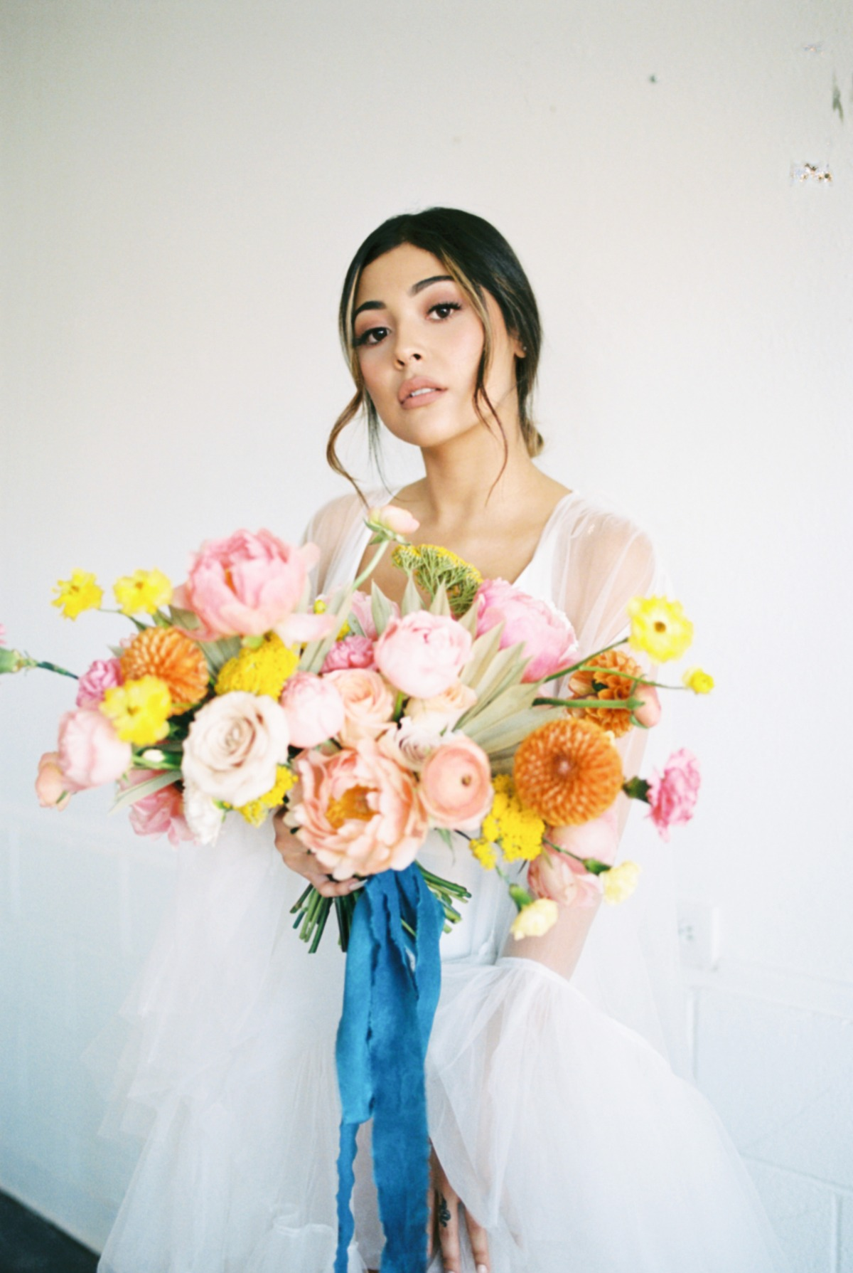 An Ethereal Boho Citrus Bridal Session