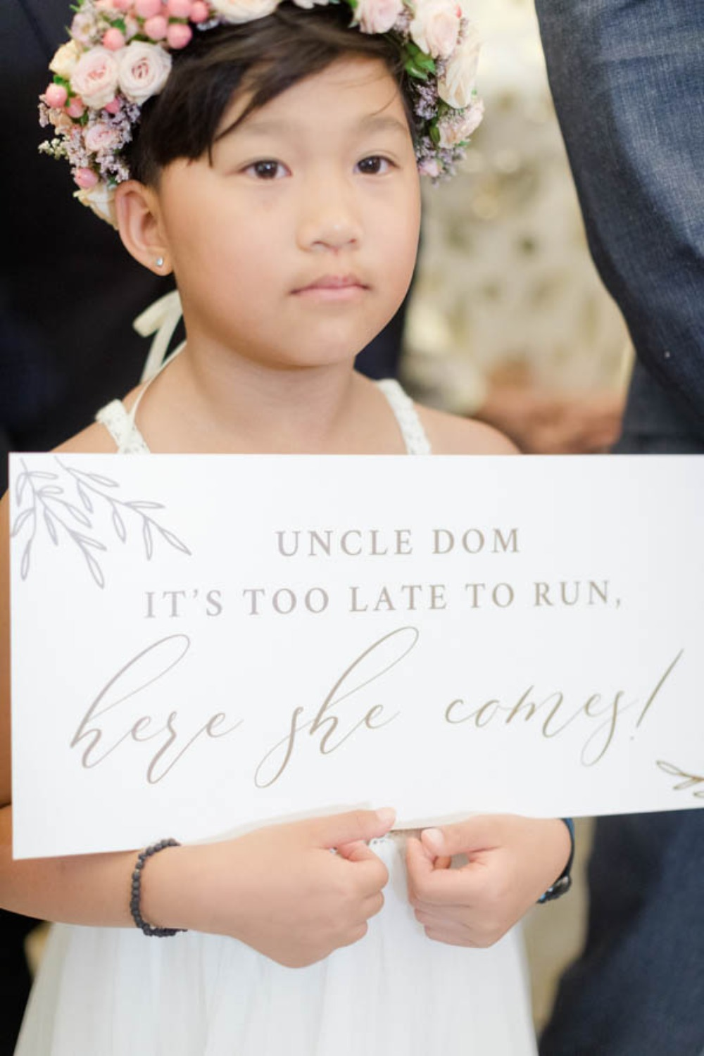 simple flower girl wedding sign
