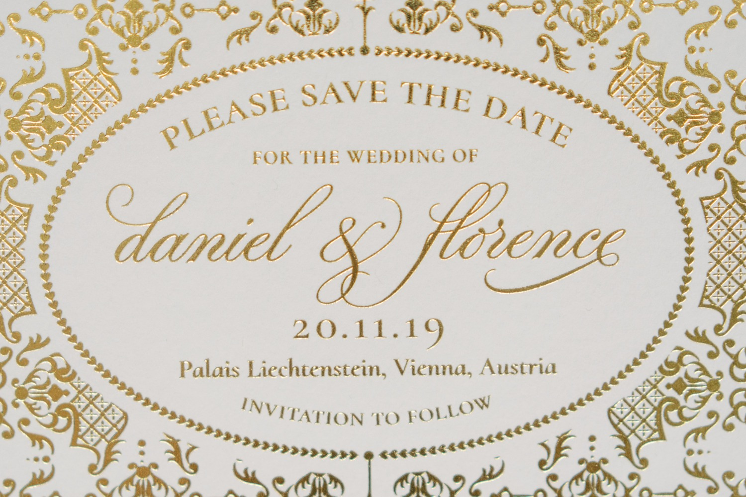 Royal inspired Save The Date