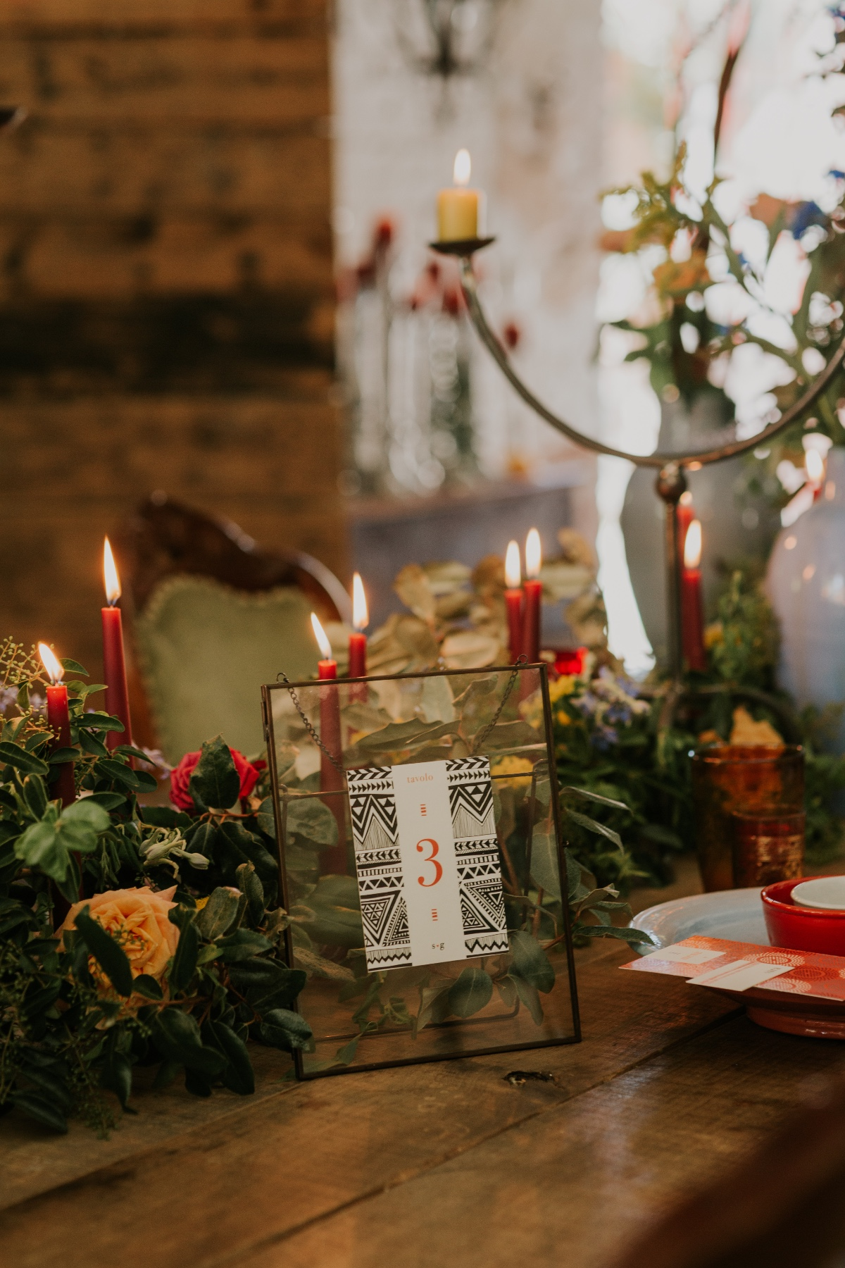eclectic table number ideas