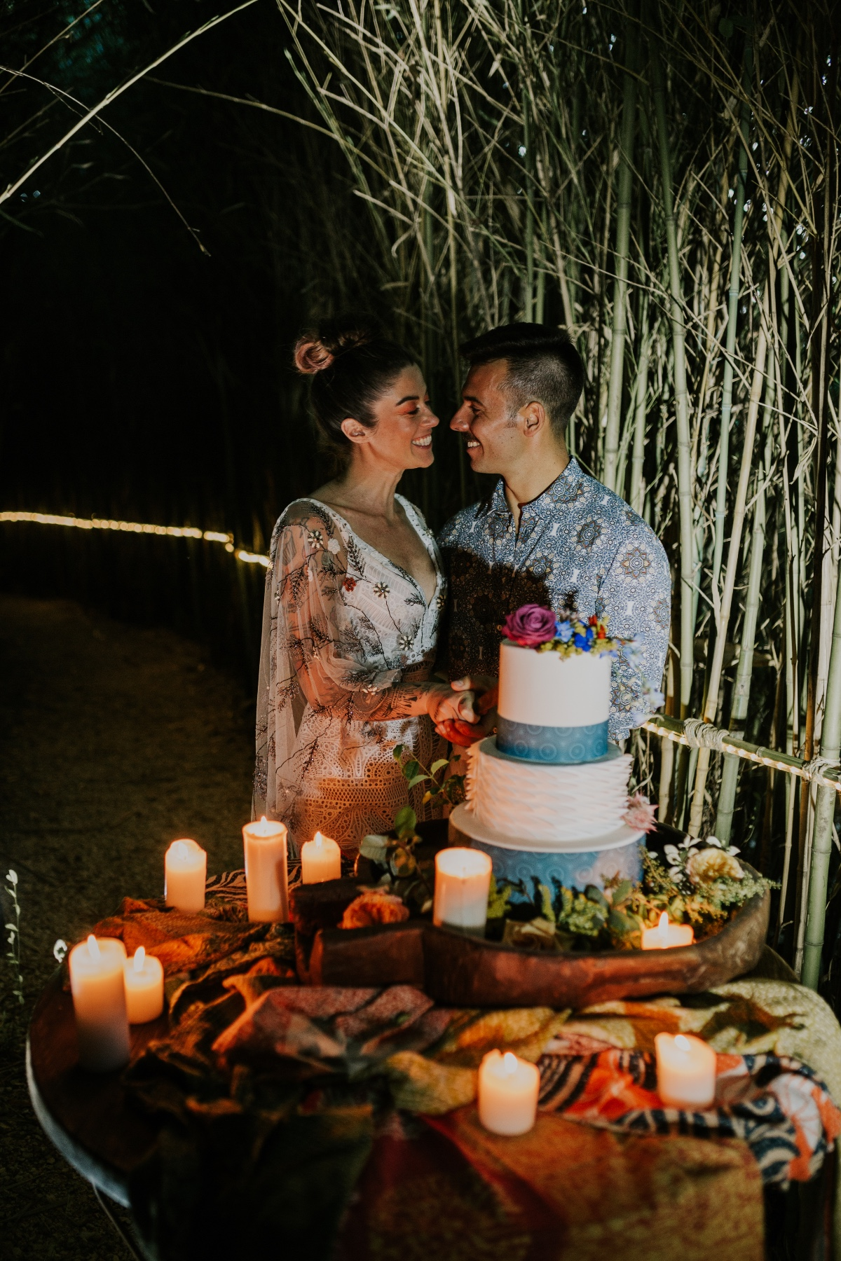 Colorful and Geometric Inspired Glamping Elopement
