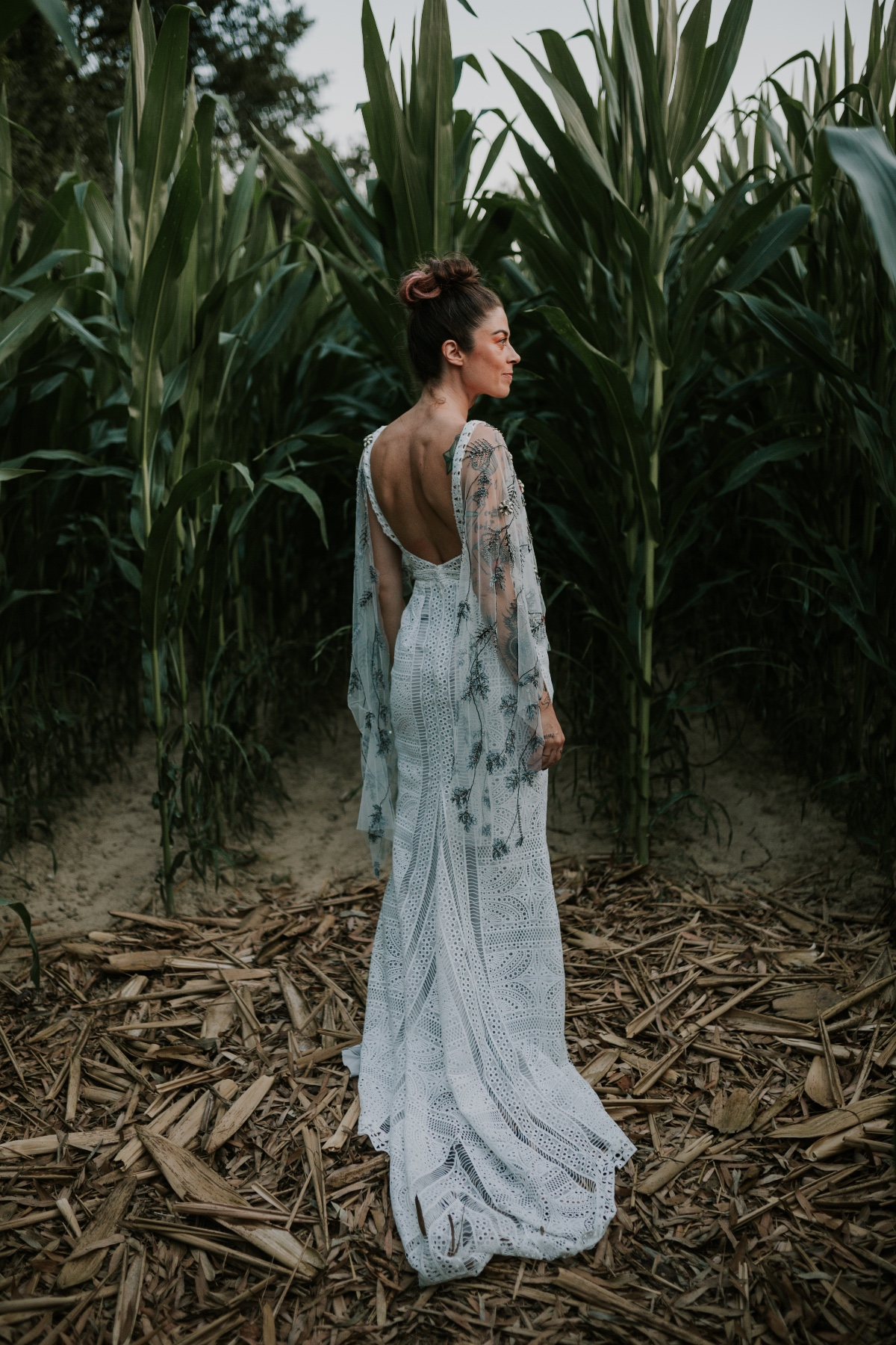 Yoliah Spose boho chic wedding dress