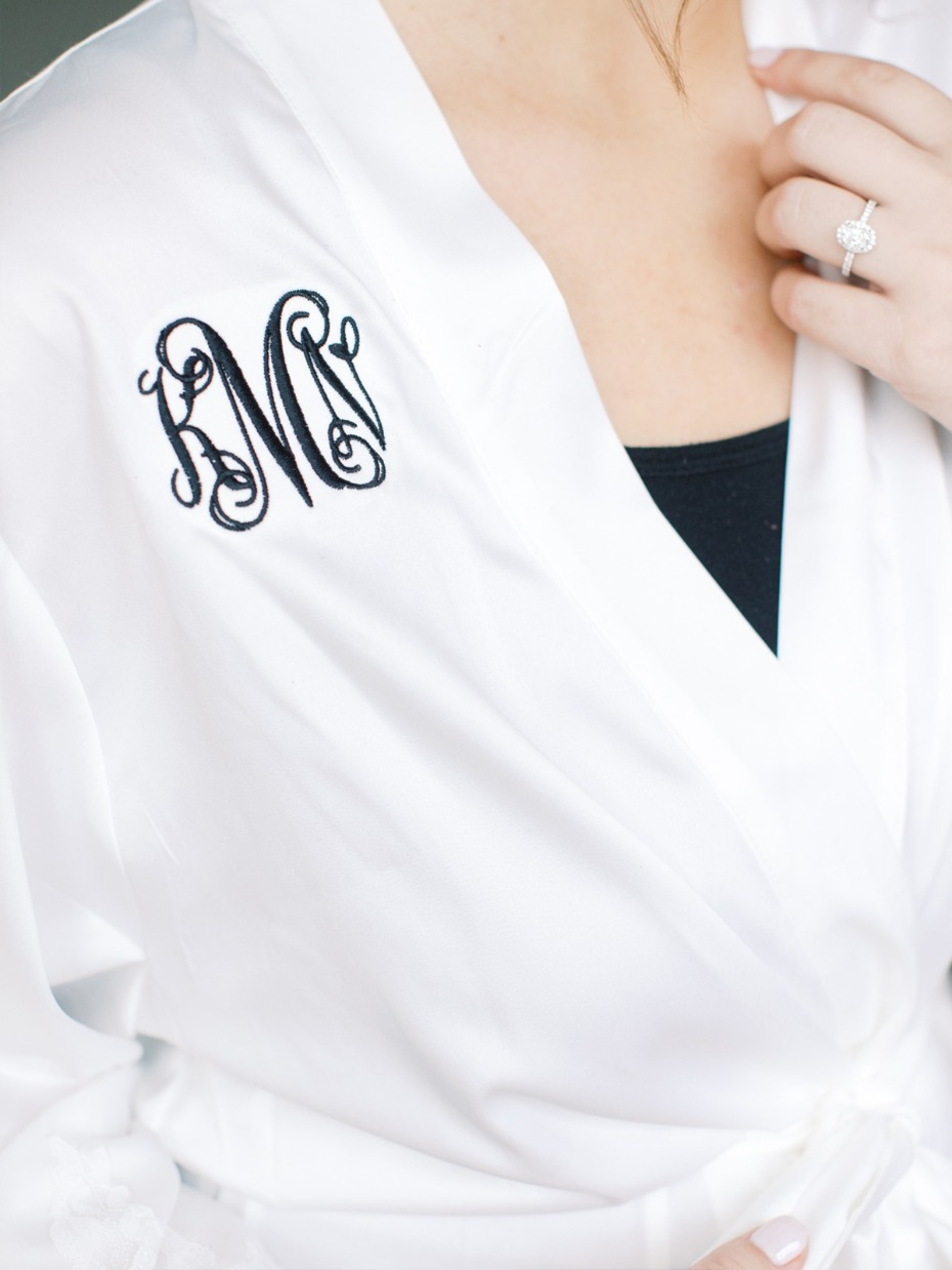 bridal monogram robe
