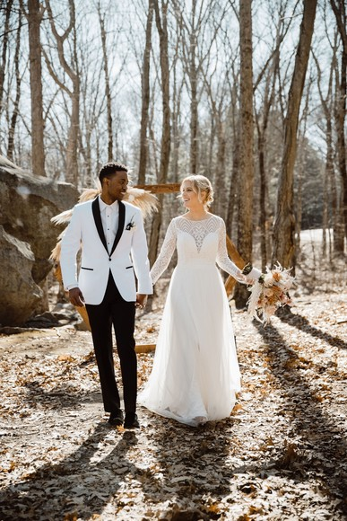 A Modern, Woodsy Intimate New England Wedding