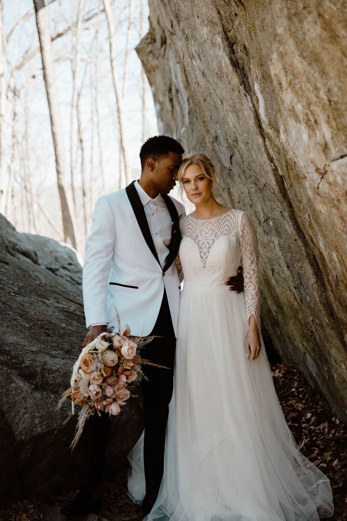 long sleeve wedding dress with lace details