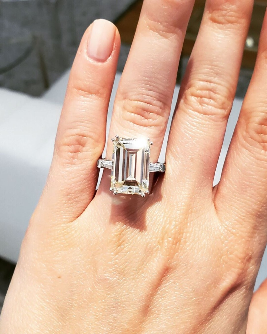 To-Die-For Emerald Cut Engagement Rings Like Demi Lovato's New Rock
