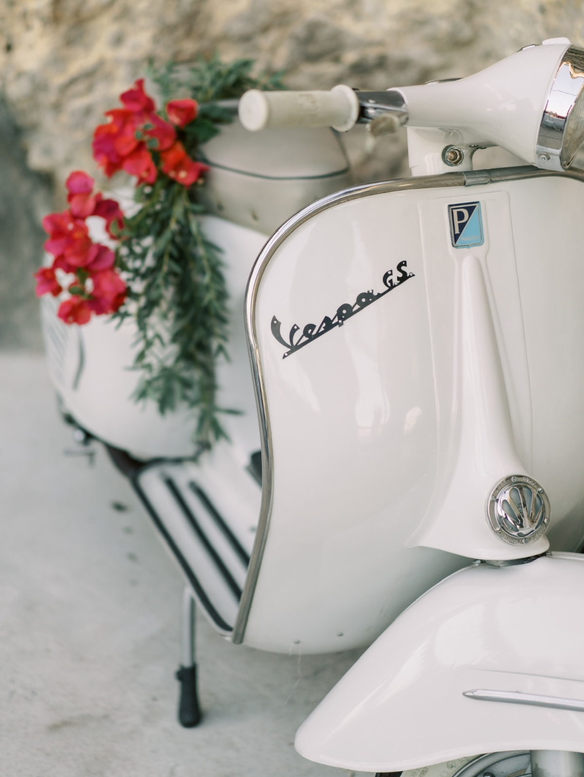 Vintage Vespa at Amalfi Coast Wedding