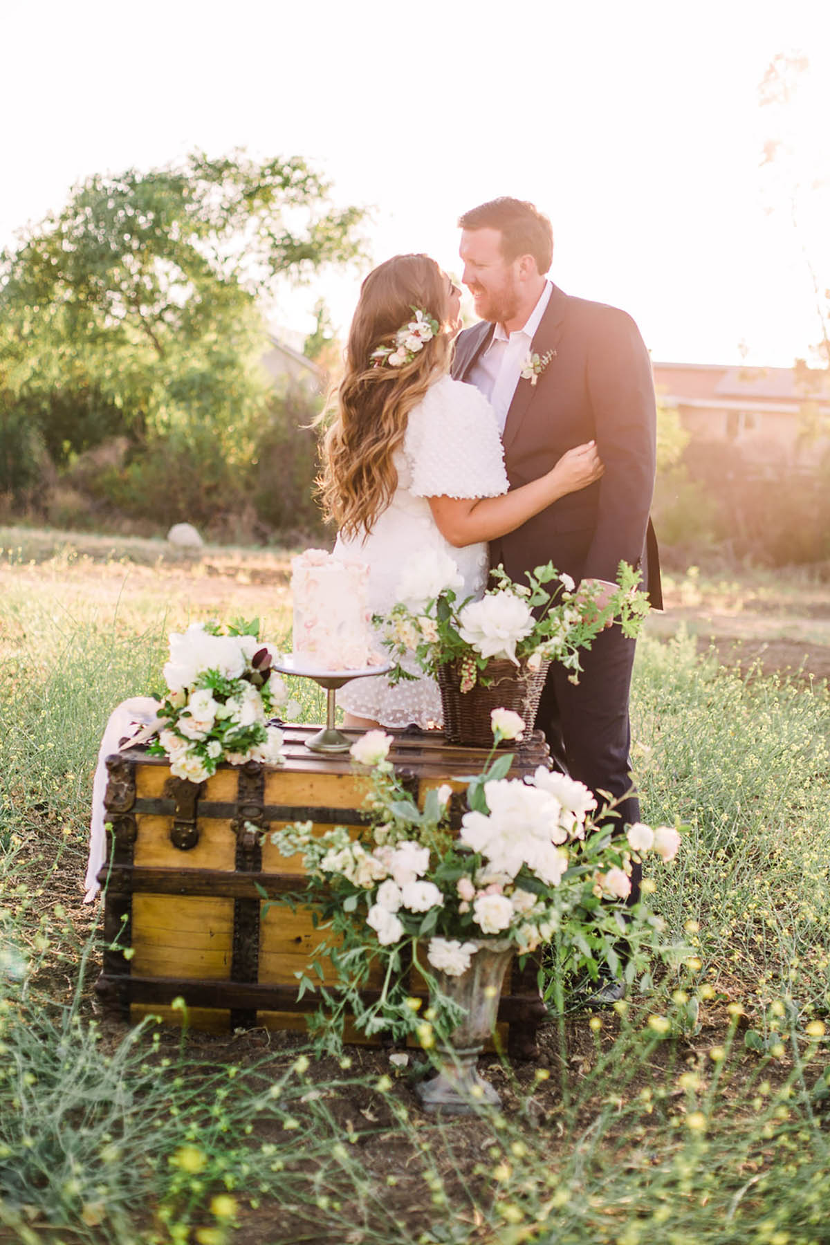 Sun Soaked Micro Wedding at the Family Estate