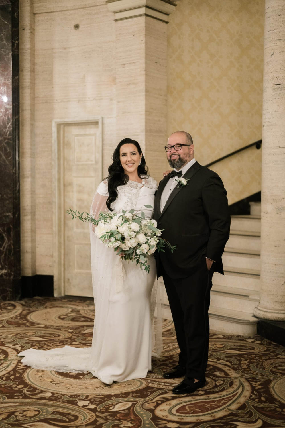 Downtown Chicago Black Tie Wedding