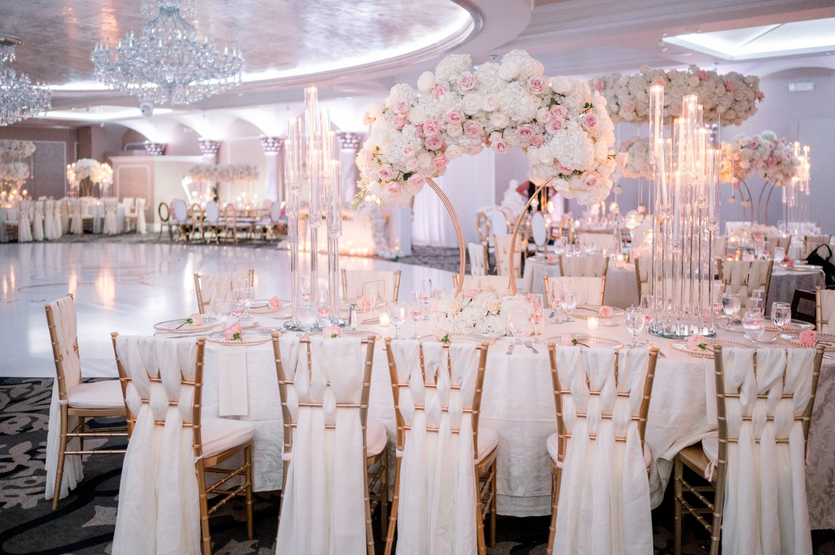 Over the Top Greek Wedding Drenched in Florals at the Grand Marquis New Jersey