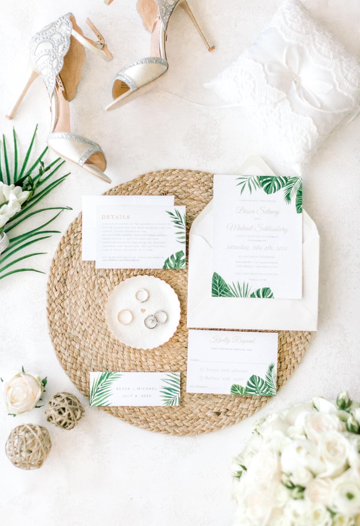 We're Coconuts for this Tropical Themed New Jersey Wedding