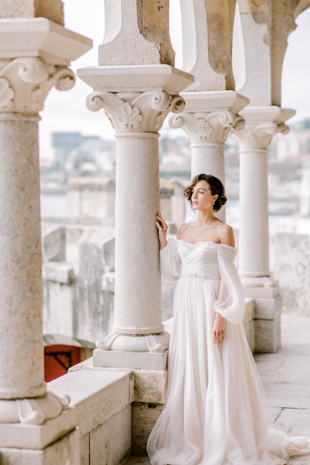 off the shoulder wedding gown by Gio Rodrigues
