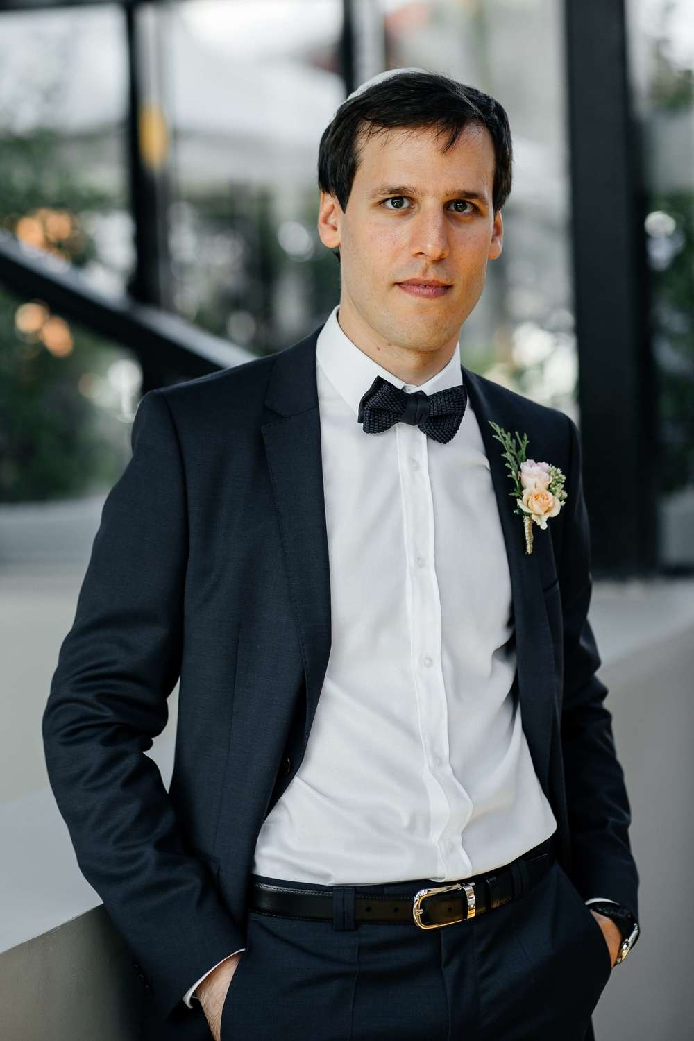 relaxed tuxedo for the groom