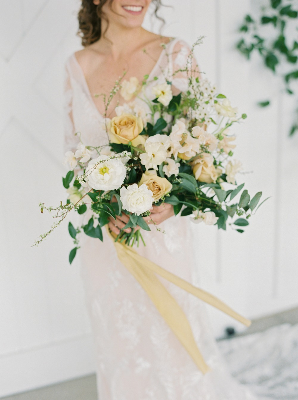 sepia toned wedding bouquet styled by Idlewild Floral