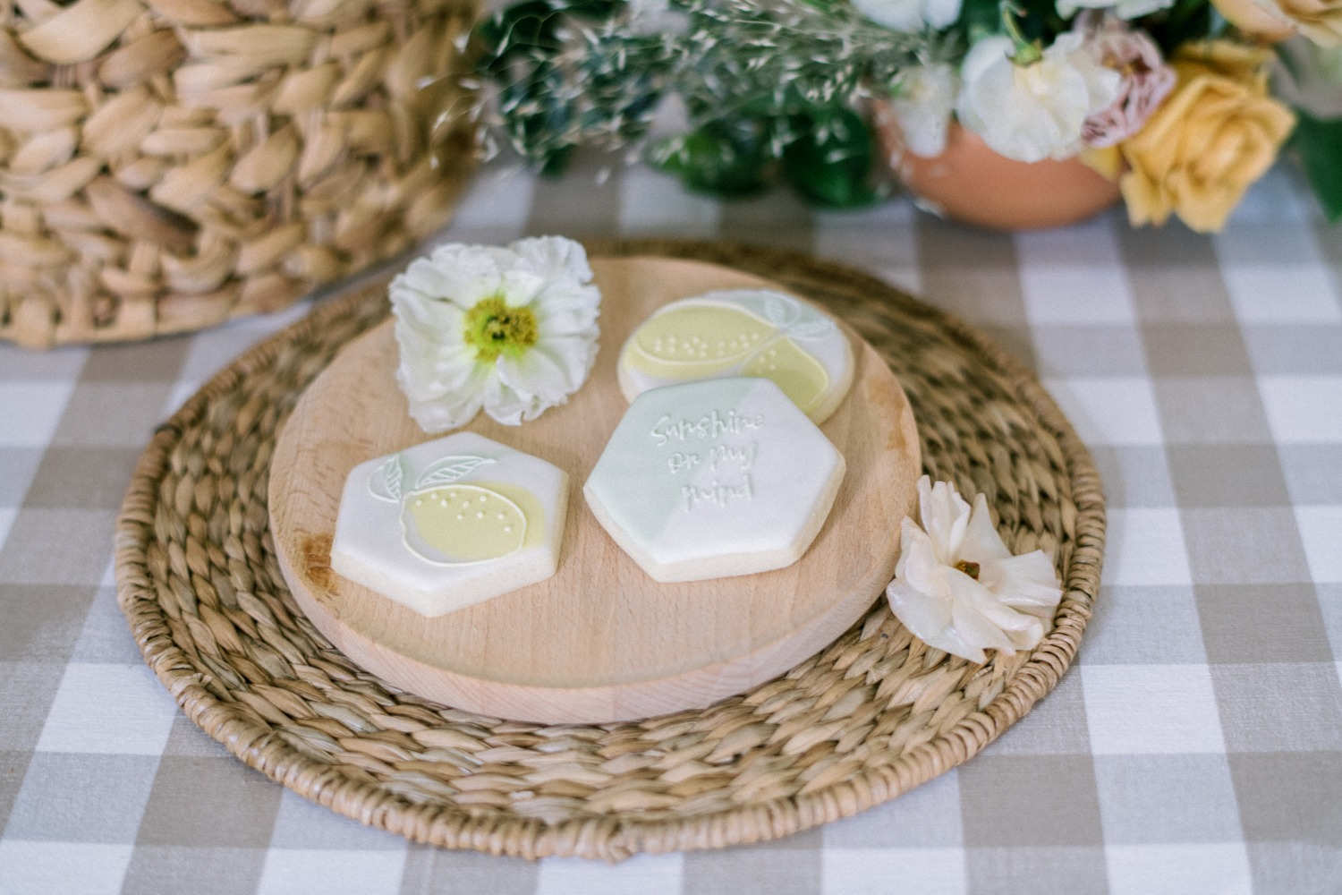 custom wedding cookies from Sweet Autumn Bakery