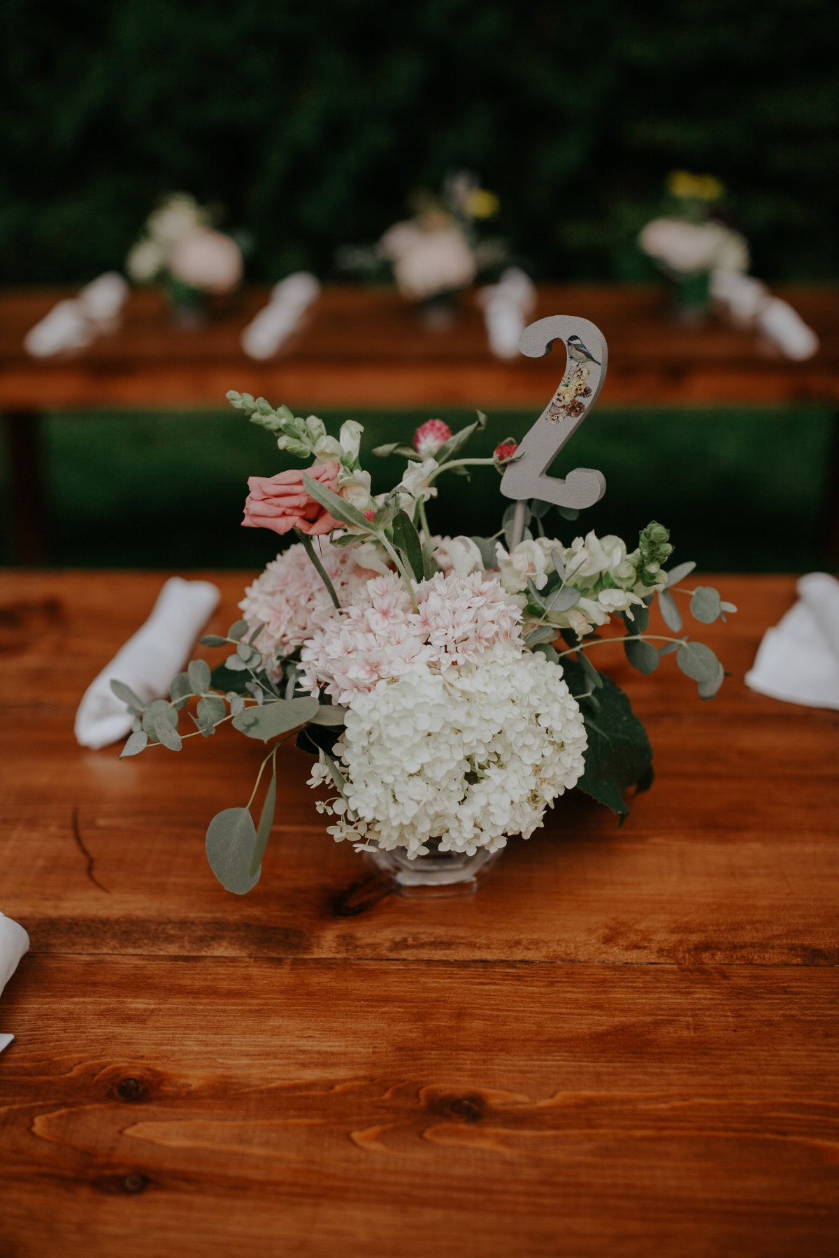 floral table number ideas