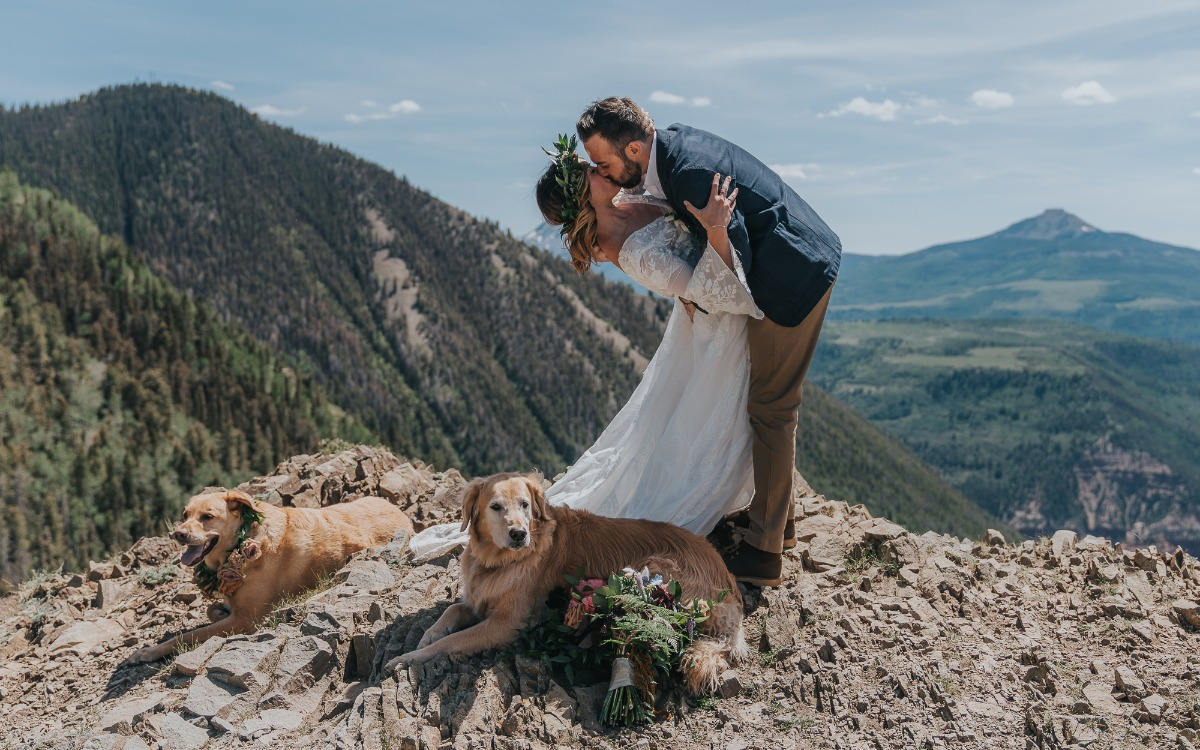 mountain top wedding elopement
