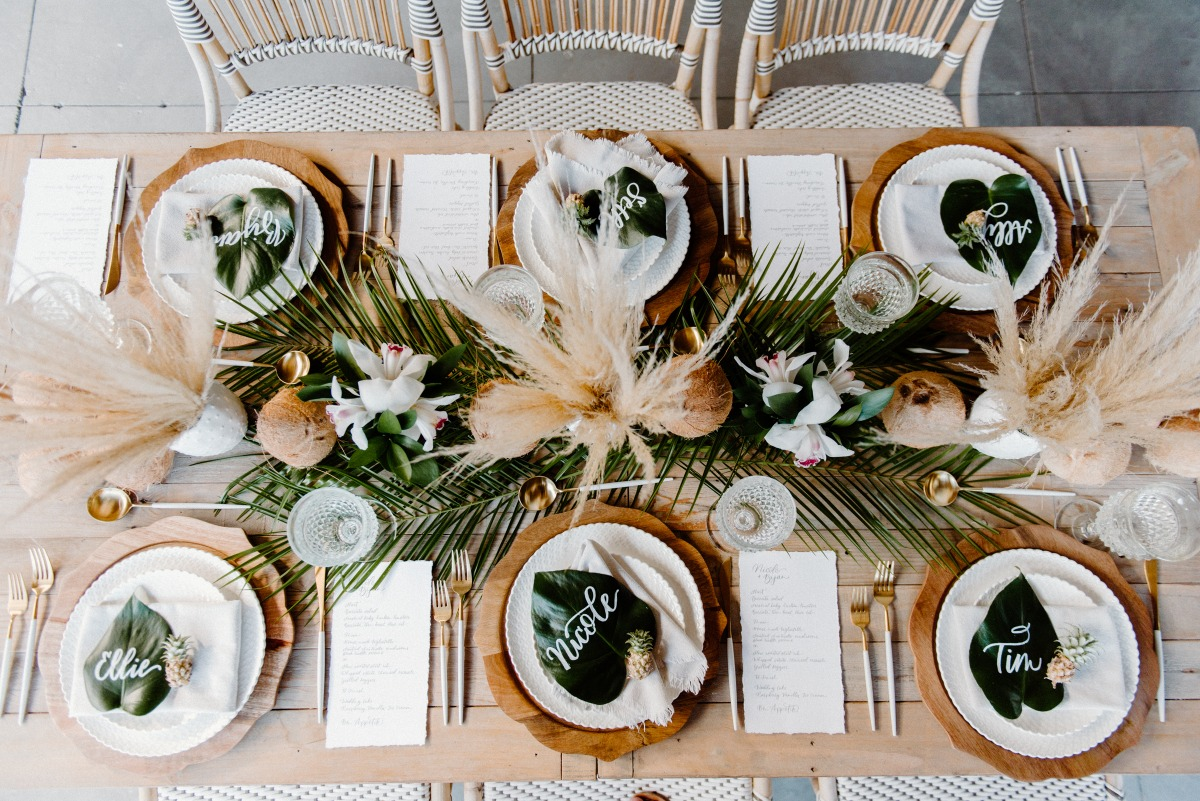 Neutral Coconut & Pineapple Tropical Shoot in Laguna Beach