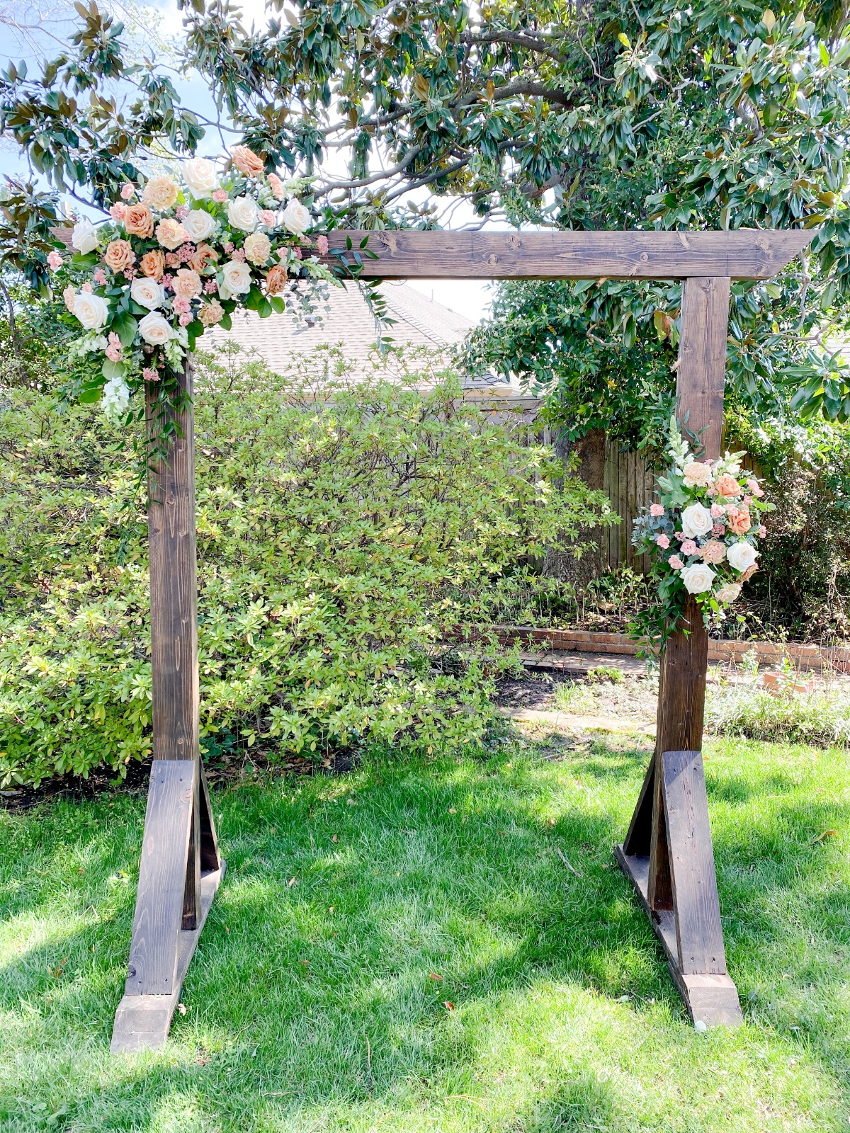DIY Backyard Arbor by Bloom Culture Flowers
