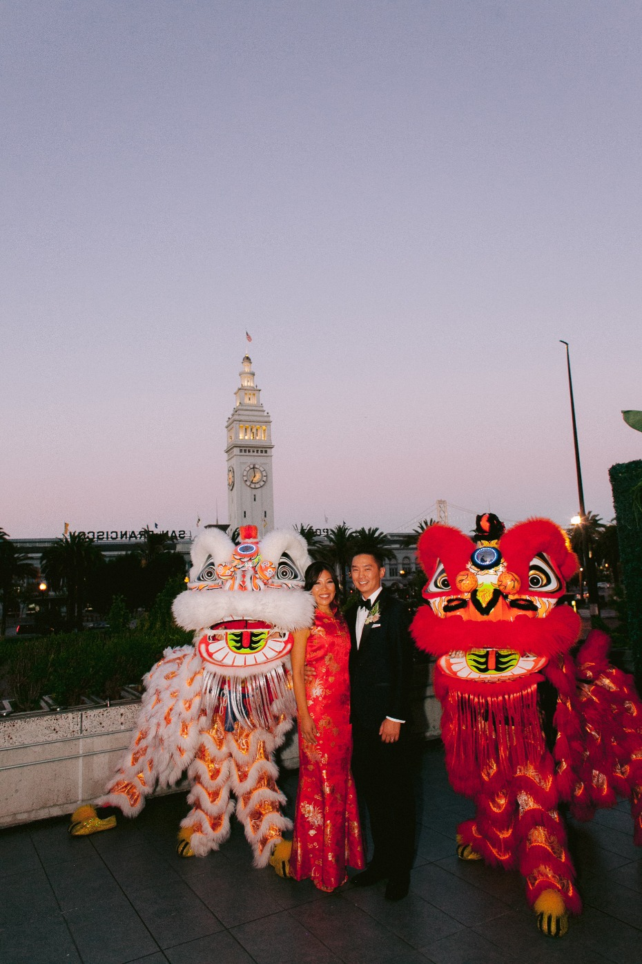 Harborview Restaurant & Bar Wedding with Chinese Dragons