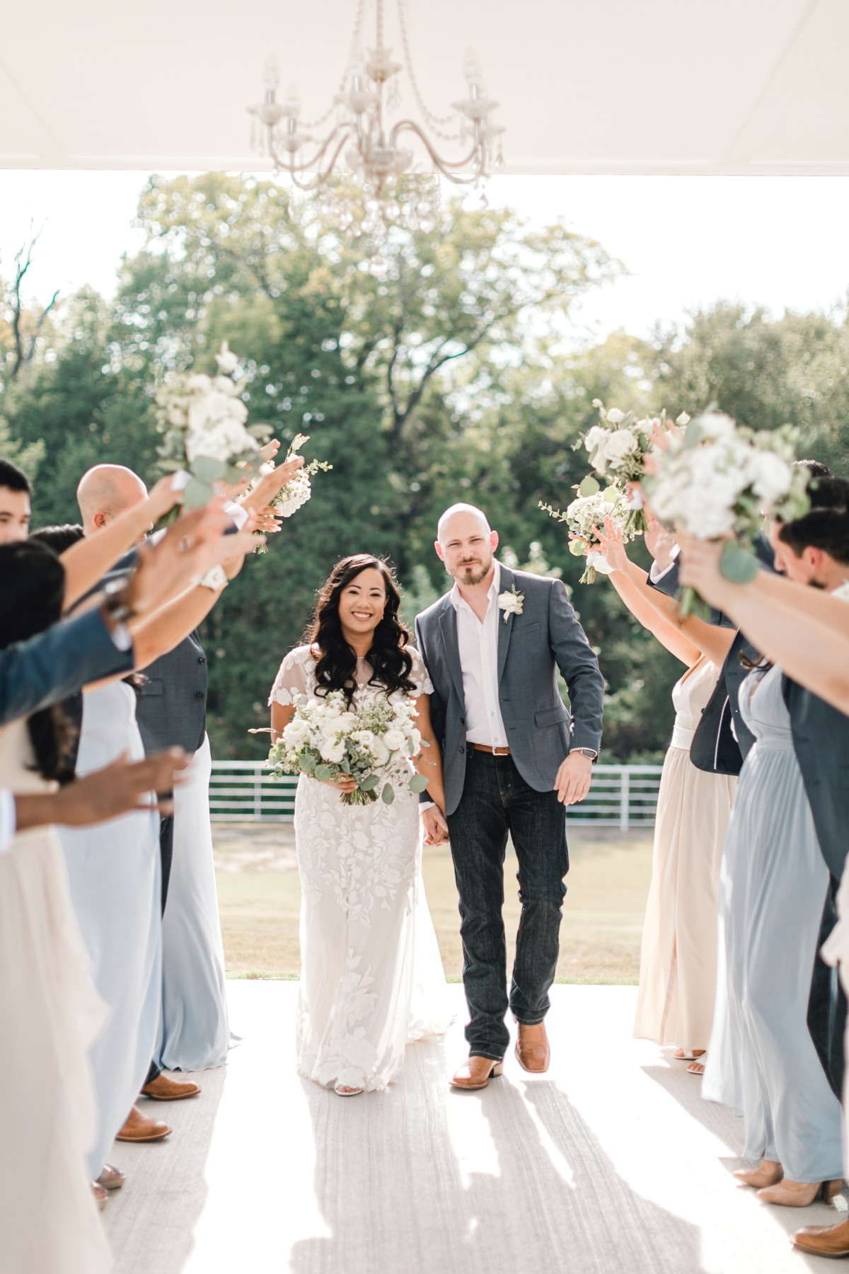 Romantic Countryside Destination Wedding at the Firefly Gardens