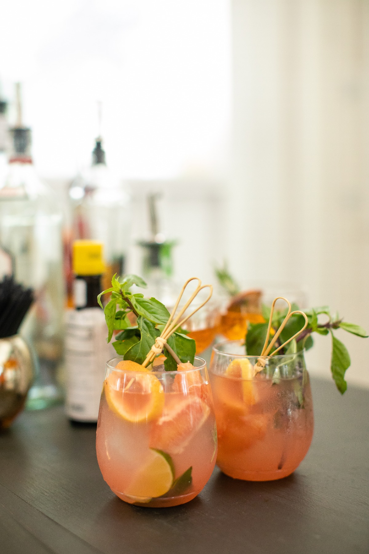 grapefruit and lime wedding cocktail ideas