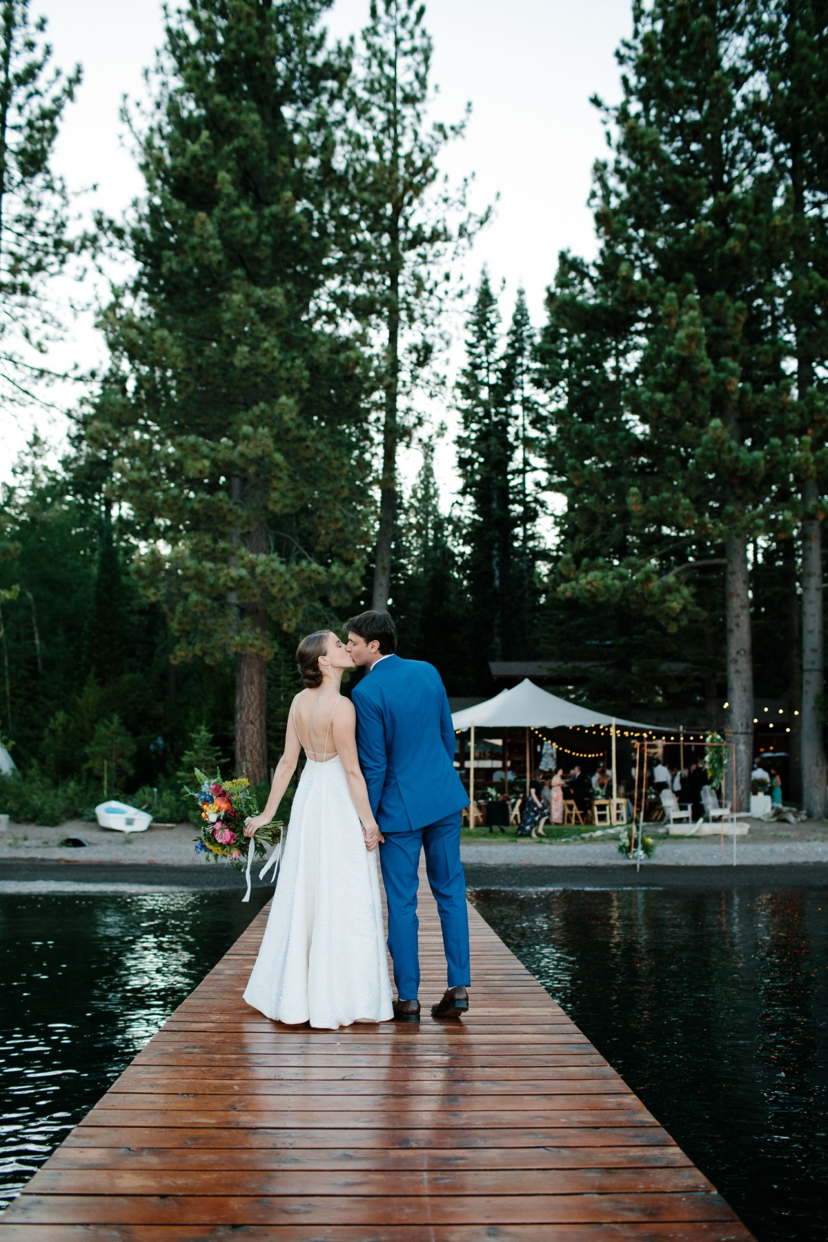 Whimsical and Lighthearted Wedding on the Shores of Tahoe
