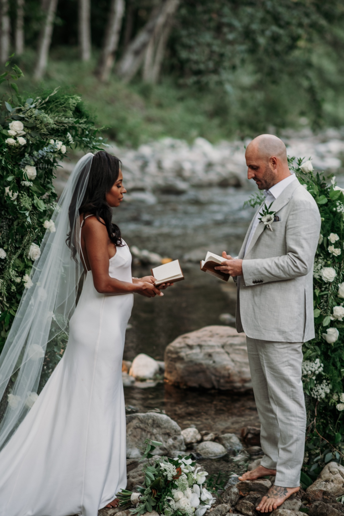 Ebony and Blake's Intimate Elopement Where they had their First Date