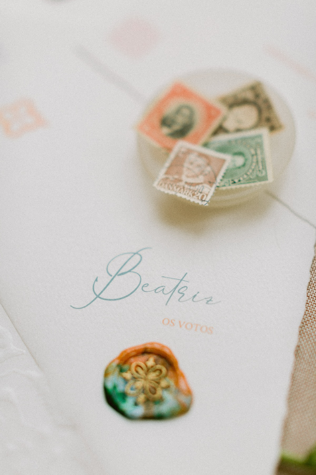 one of a kind wedding stationery created by A Pajarita