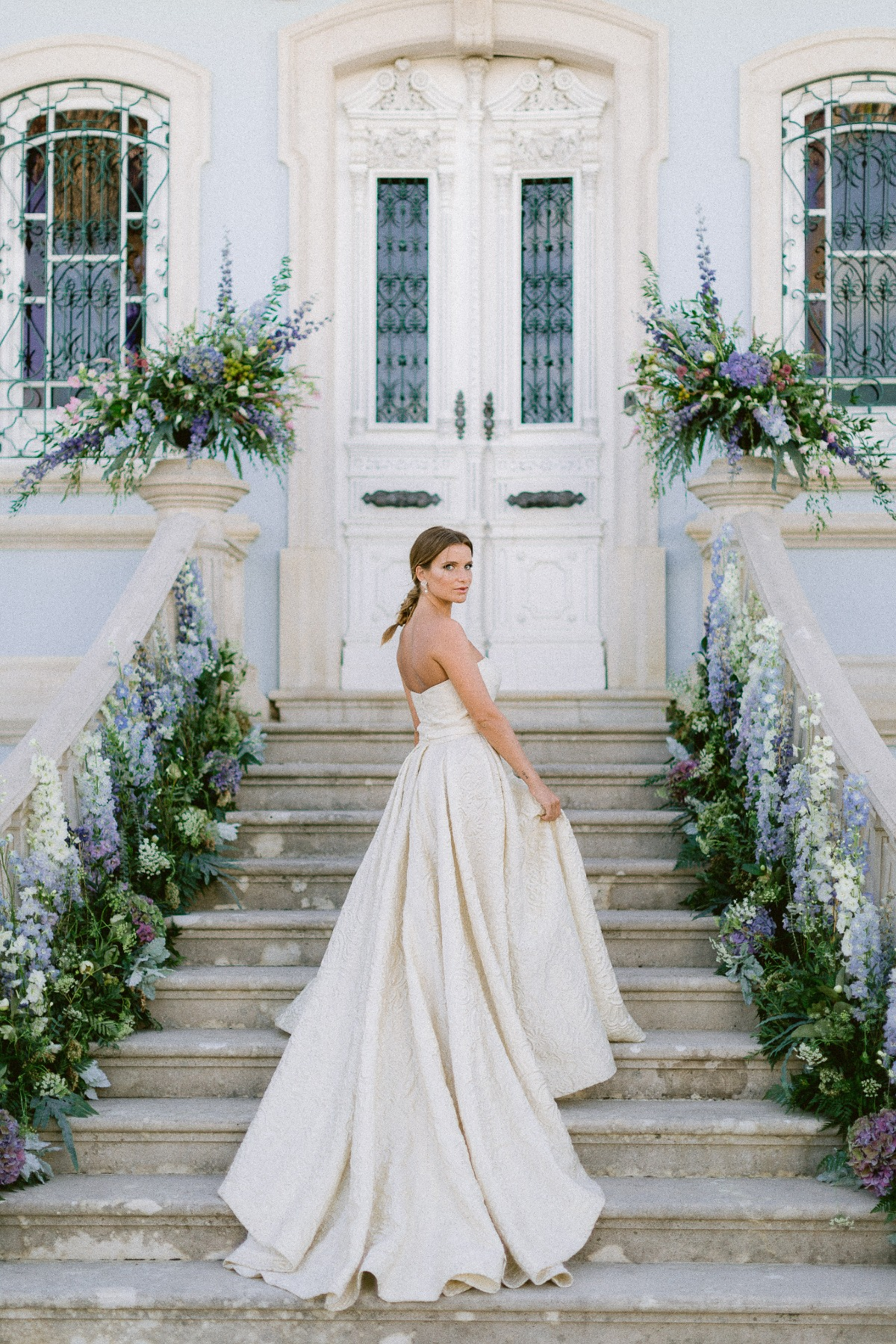 Gio Rodrigues brocade wedding gown