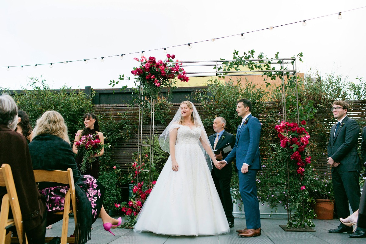 Rainbow Louboutin Shoes Almost Stole the Show at this San Francisco Wedding