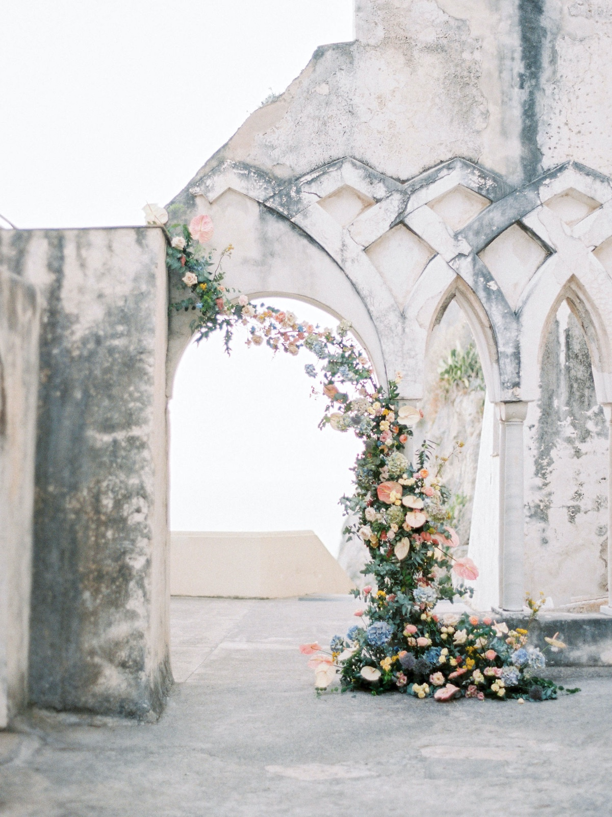 Breathtatking Blue and White Wedding On The Amalfi Coast