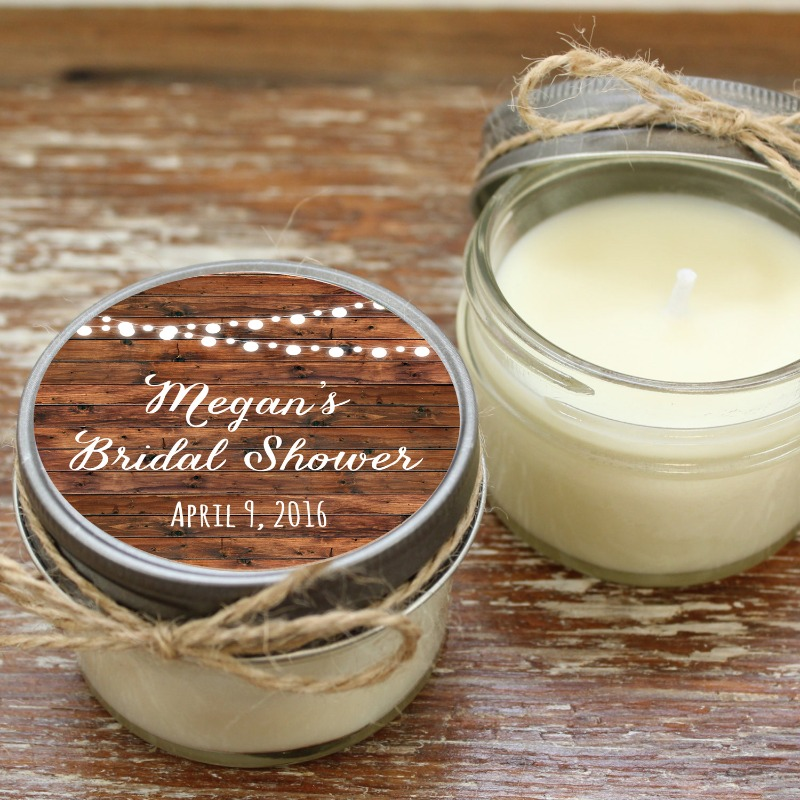 Soy Candle Wedding and Bridal Shower Favors