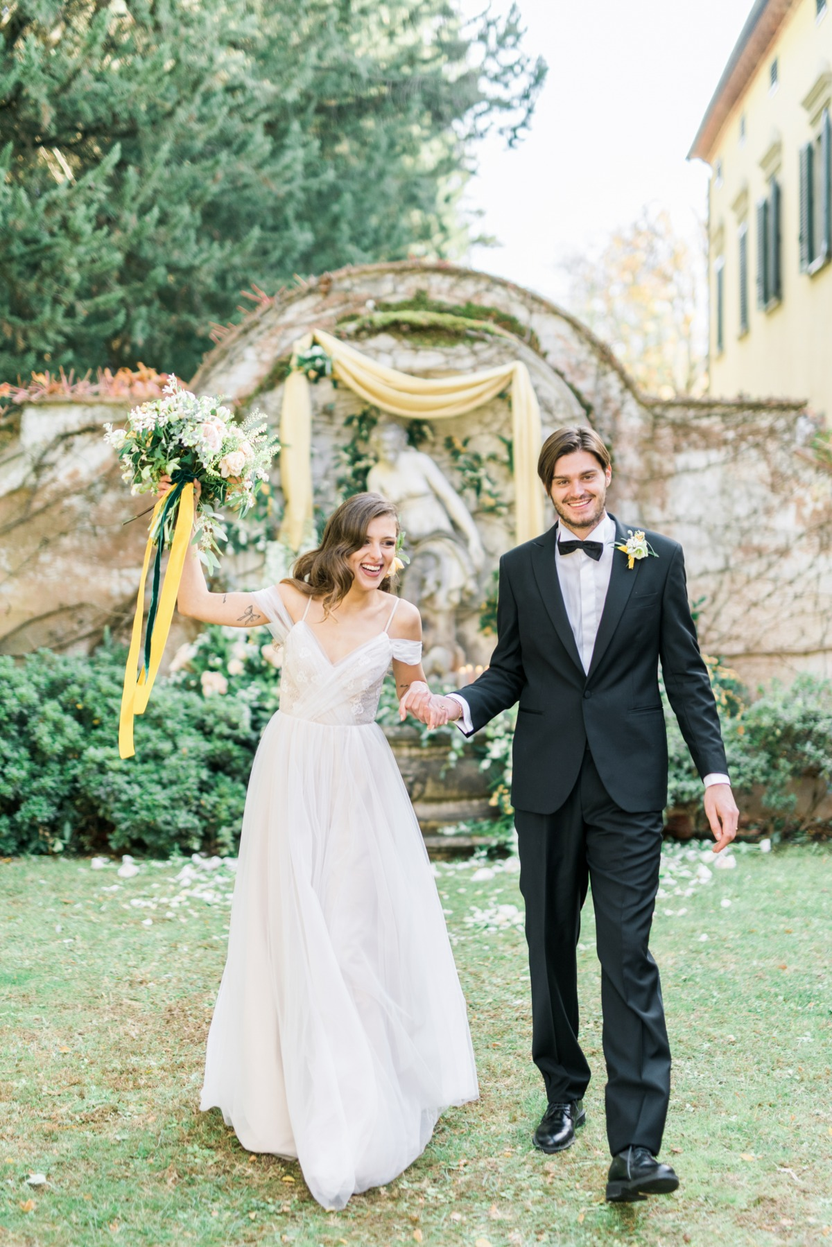 This Awe-Inspiring Shoot In Tuscany Has Us Lusting for a Fall Wedding Surrounded By Cypress Trees