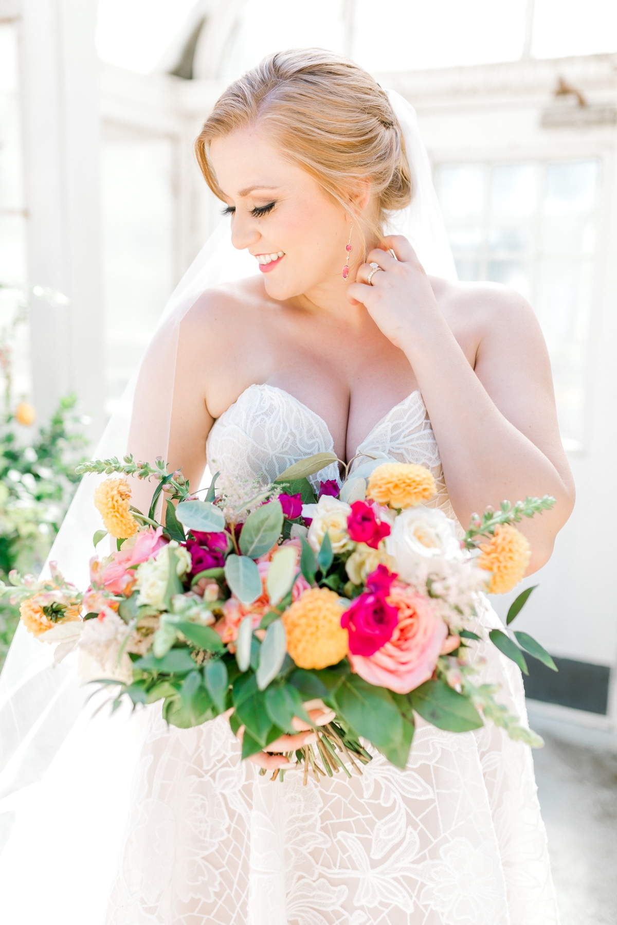 This Stunning Stained Glass Styled Shoot Happened in a Greenhouse in Texas